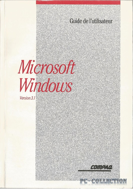 Guide d`utilisation Microsoft Windows 3.1