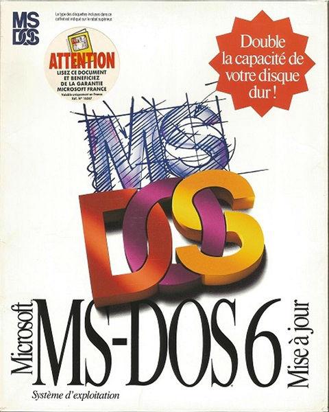 Microsoft MS-DOS 6 Mise à jour