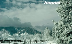 Wallpaper lenovo neige