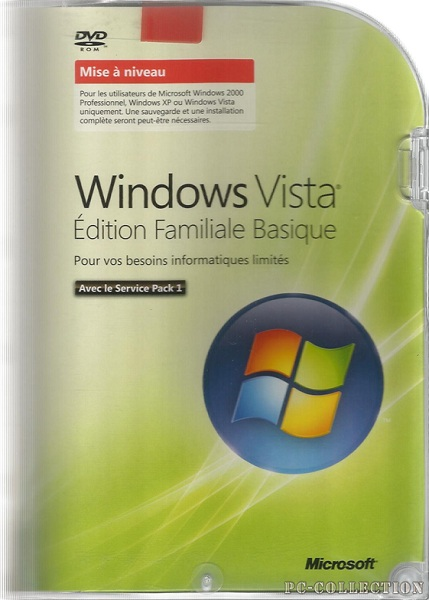 Windows Vista Edition Familiale Basic MAN