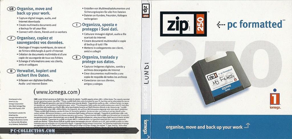 Jaquette ZIP 250 PC